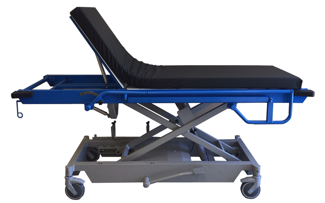MRIMed's MR Adjustable Height Stretcher